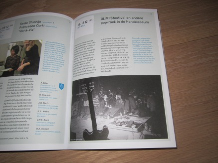 A little publication in the -winter 2015 / spring 2016- booklet of the Handelsbeurs Concertzaal (Gent)