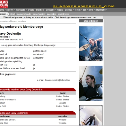 On the website of Slagwerkkrant. Slagwerkwereld.com