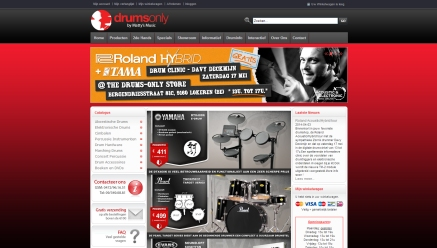 Publication on the website of Drums Only. www.drumsonly.be (picture top right)